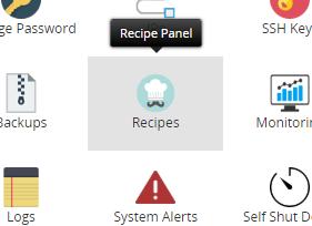 Recipe Panel